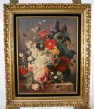 Still Life of Flowers, Signed Jacobber